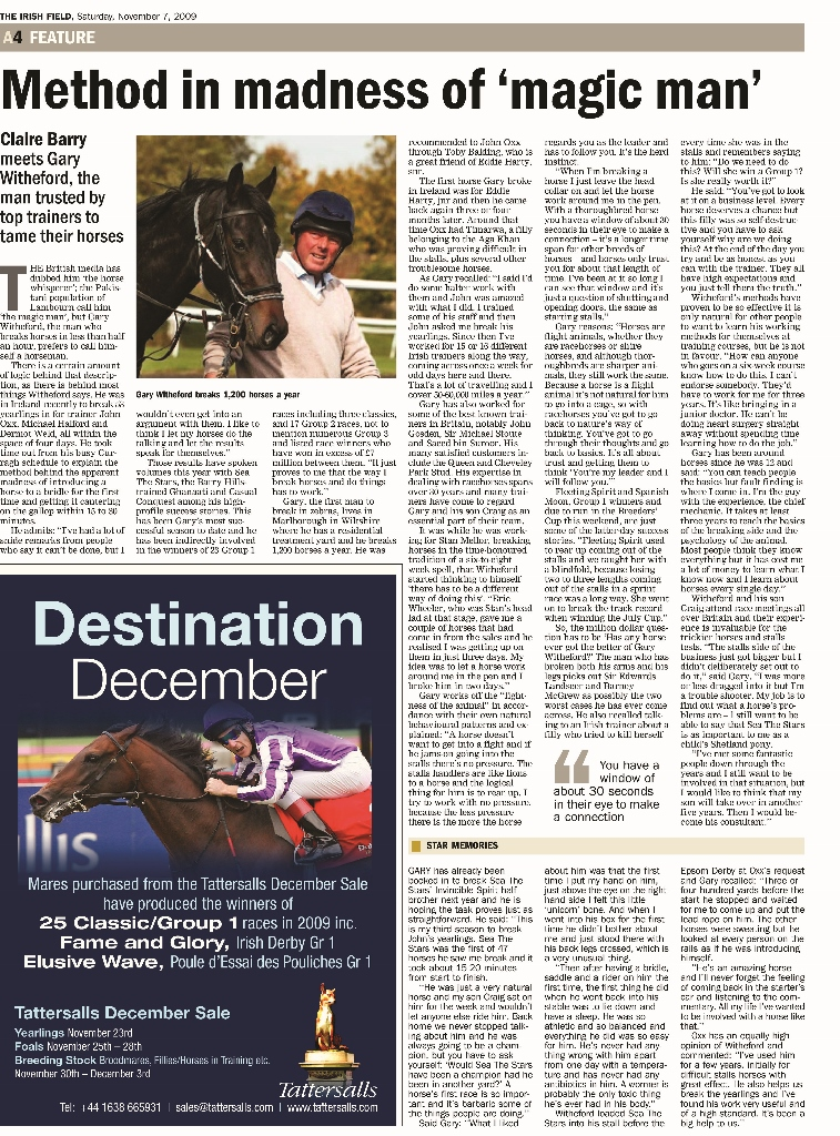 November 2009 - The Irish Field