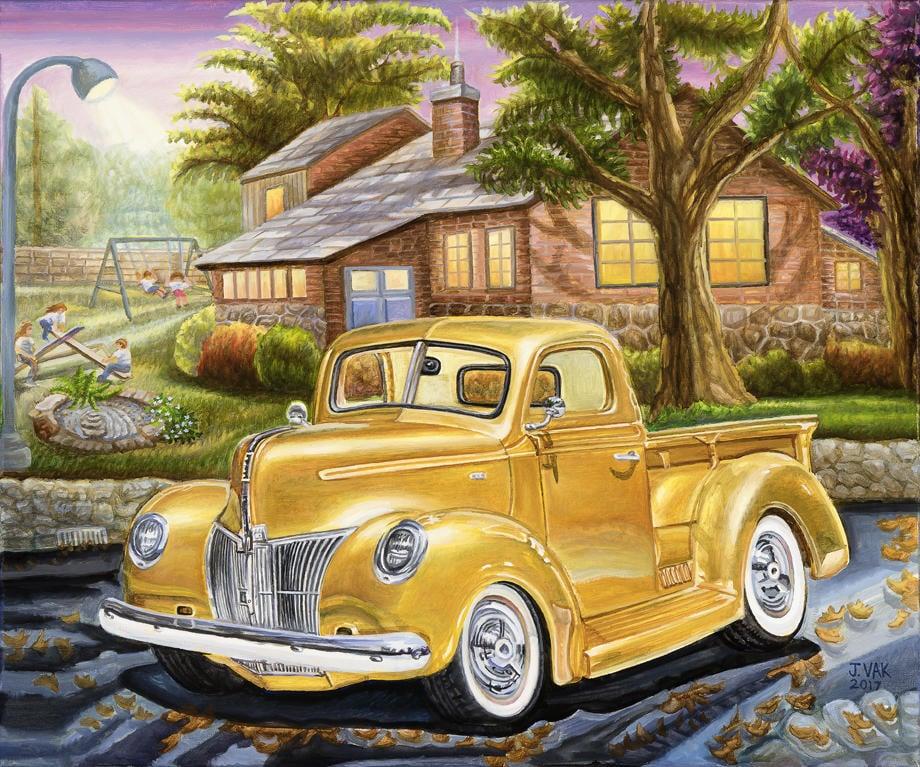 1940's Pickup Truck 20 X 24 Original Oil         $2500          2017