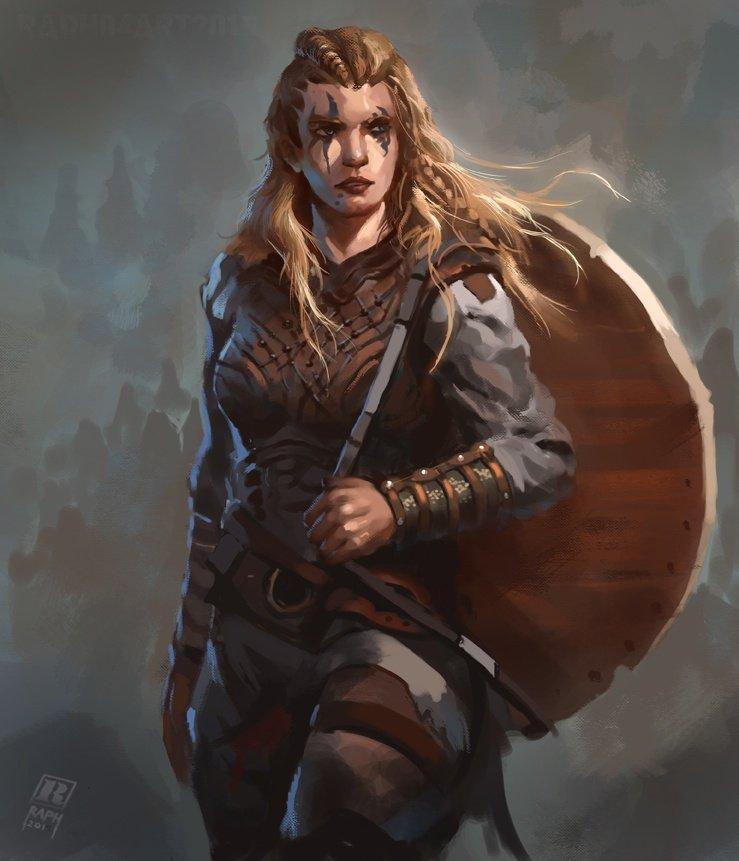 A female Barbarian