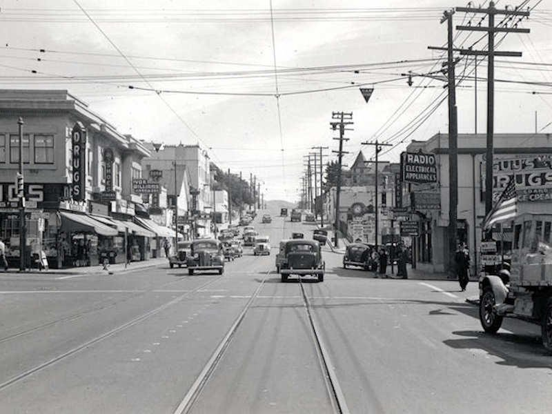 In 1940 the intersection of MacArthur Boulevard and Fruitvale was the entrance to the Dimond District. Several neighborhoods grew from agrarian roots on a gentle slope of the East Bay Hills to become streets with homes built during every decade since 1900, especially during the post WWII boom. Today these streets are an eclectic mix of architecture and settled residents.