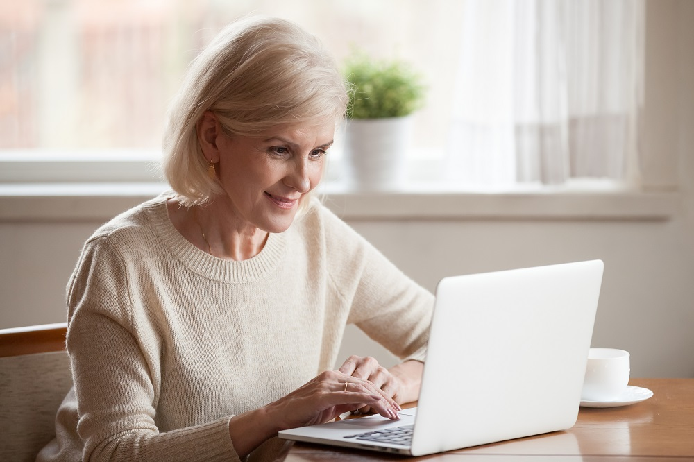 Woman Researching Online