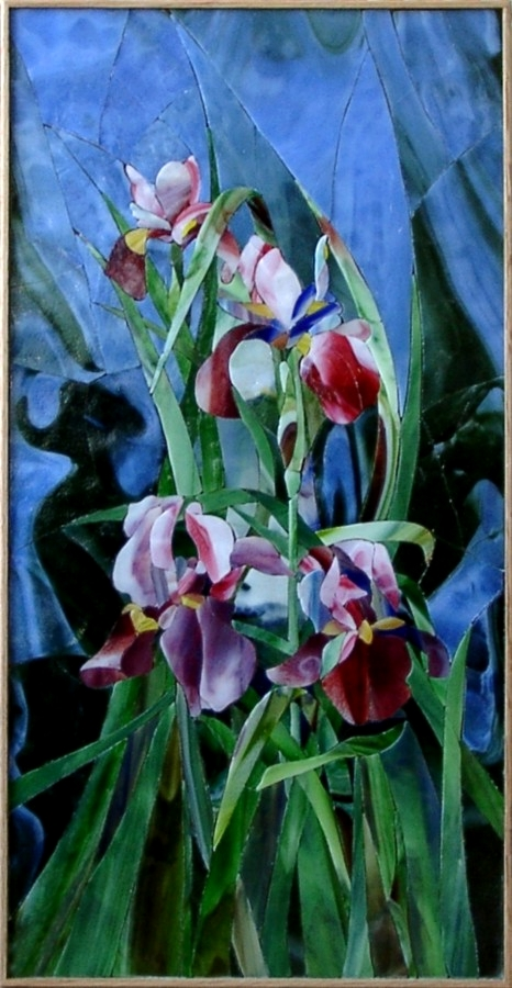 """Irises"" by Nataliya Guchenia Size - 24""H X 12""W $1,900.00"