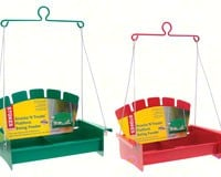 Metal Swing Treat Feeder Red or Green