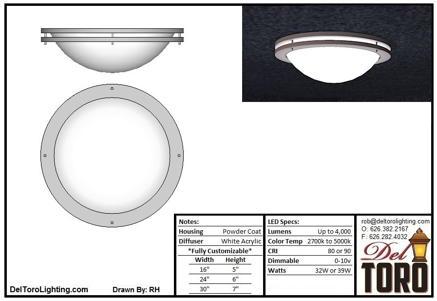 420C-Double Ring Bowl Ceiling Mount