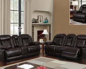8304 Dark Espresso Motion sofa, love seat, chair