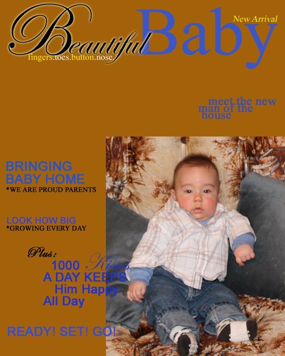 Beautiful Baby Magazine Isn't this a beautiful baby on the cover of this magazine.
