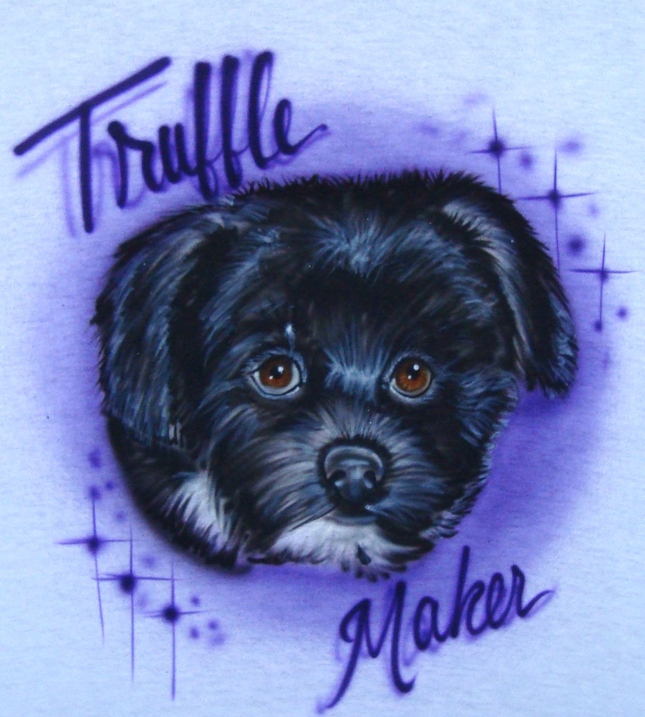 Airbrushed Dog Portrait