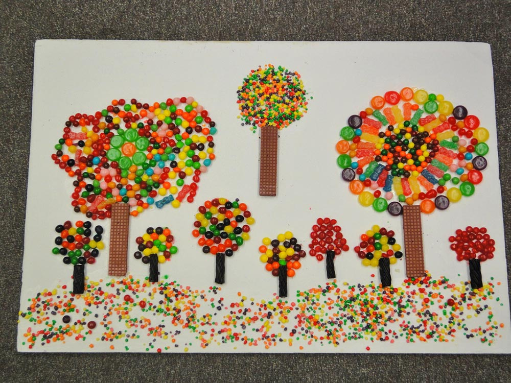 Art Project Made of Candies