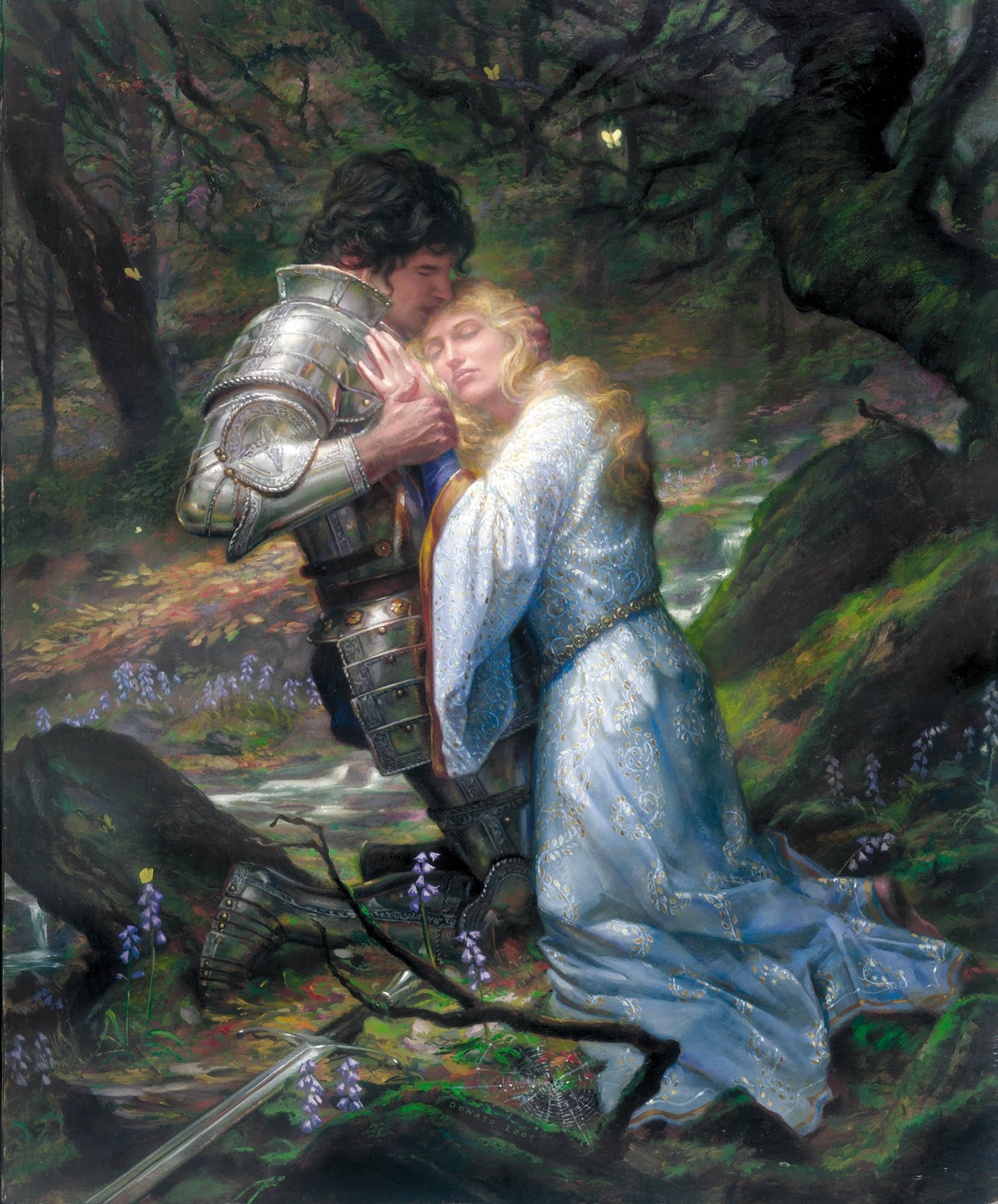 "Lancelot and Guinevere 22"" x 18""  Oil on Panel  2004 private collection"