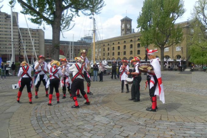 Dancing at St Katherines Dock