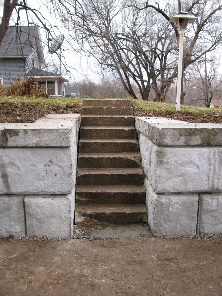 Structural Retaining Wall Steps 1