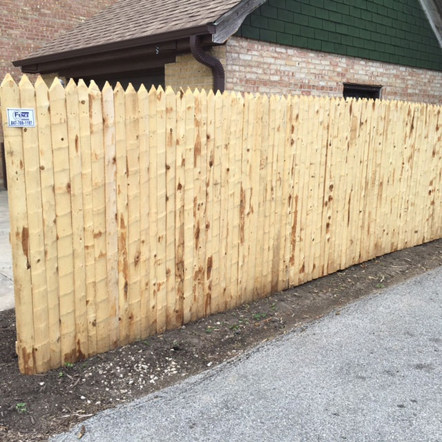 Rustic Stockade Fence