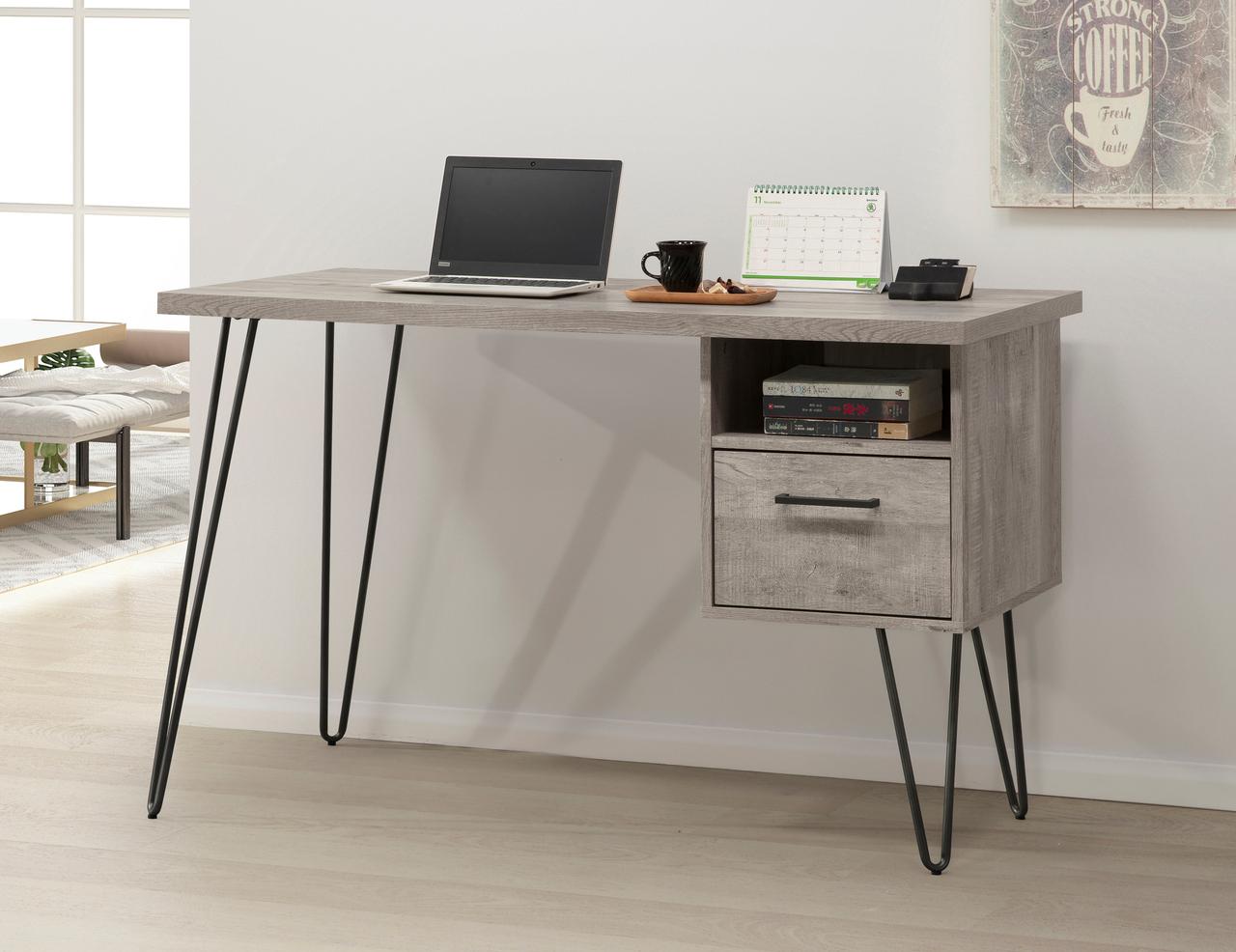 Grey Oak Desk 400-715
