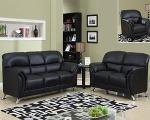 9103 Black Sofa, Love seat, Chair