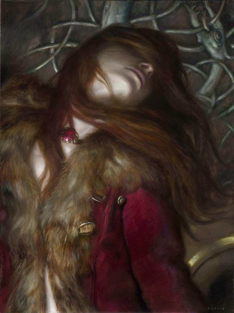 "Melisandre 14"" x 11""  Oil on Panel  2015 collection of George and Mary Beahm"