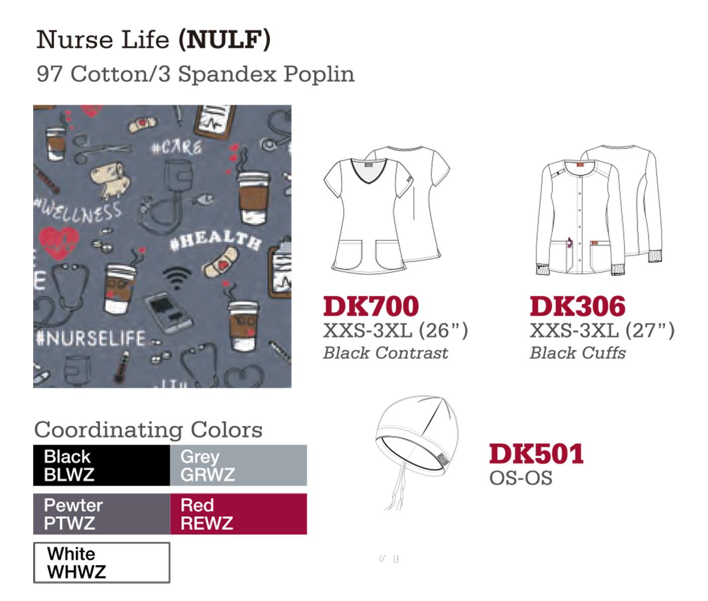 Nurse Life. DK700. DK306. DK501.