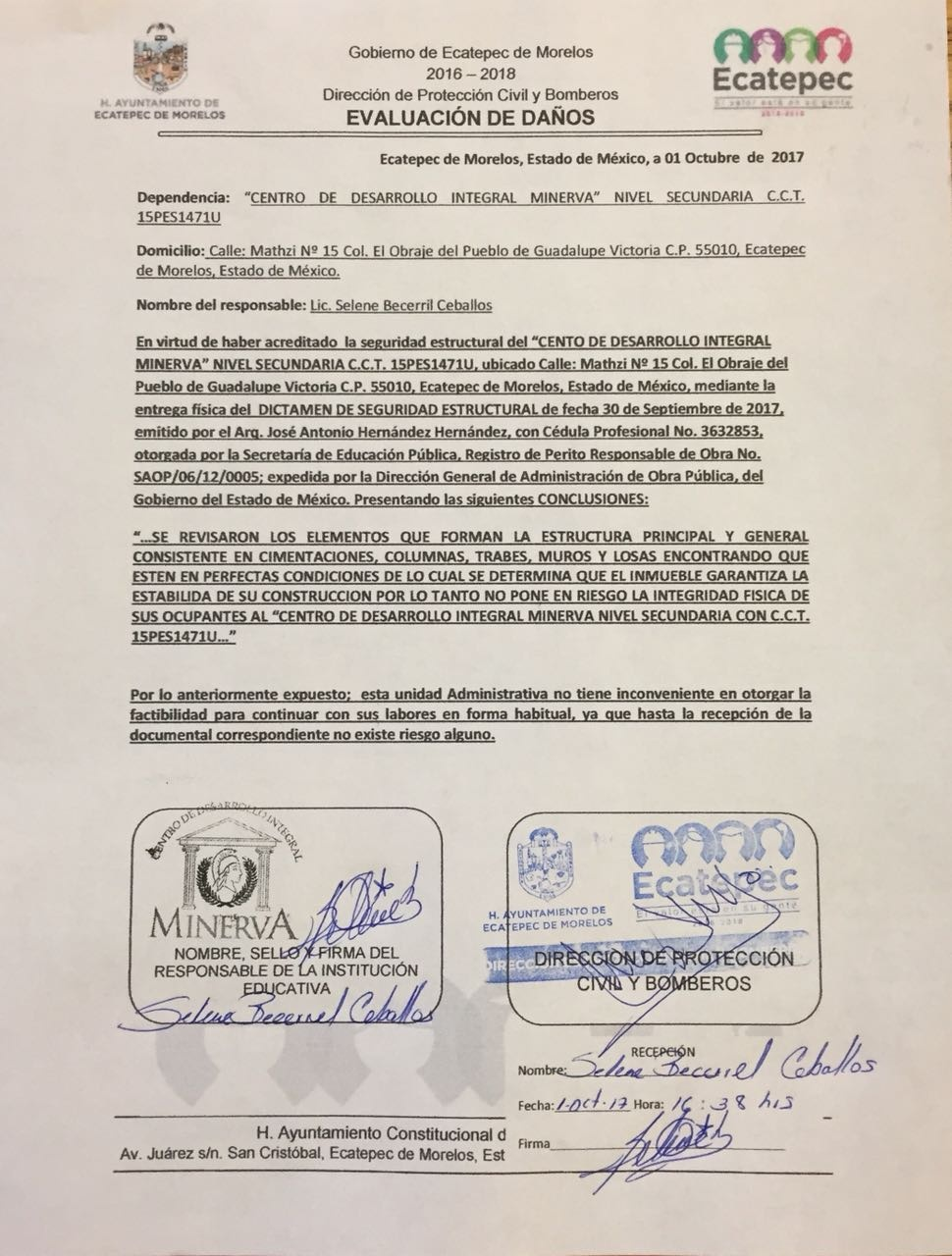 CENTRO DE DESARROLLO INTEGRAL MINERVA - Avisos