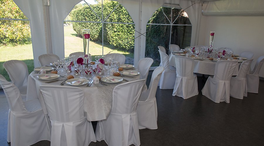 Event Tent, Tables and Chairs