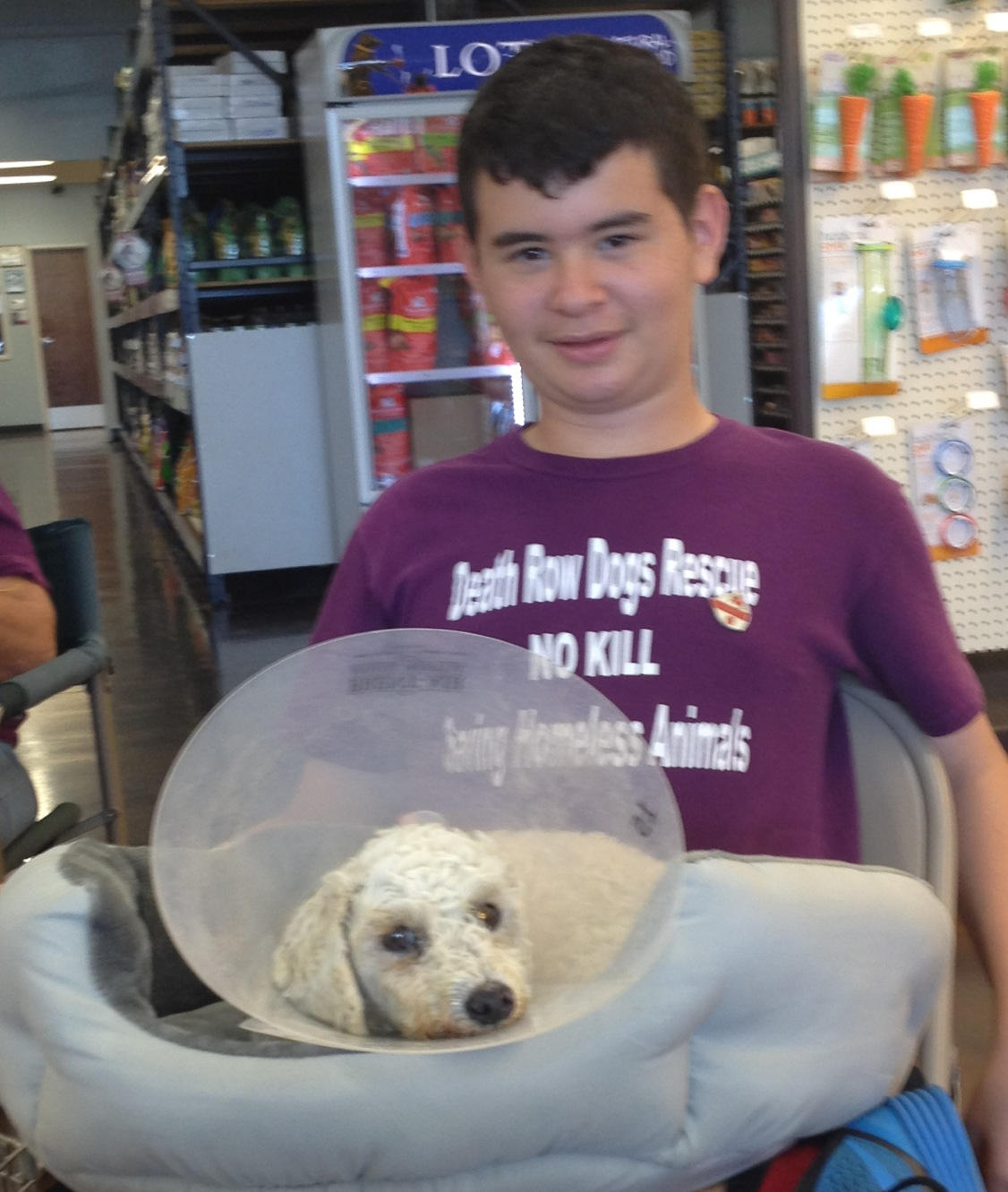 Brandon is our Volunteer Coordinator at our adoption events. We appreciate his time, knowledge and compassion for the animals.