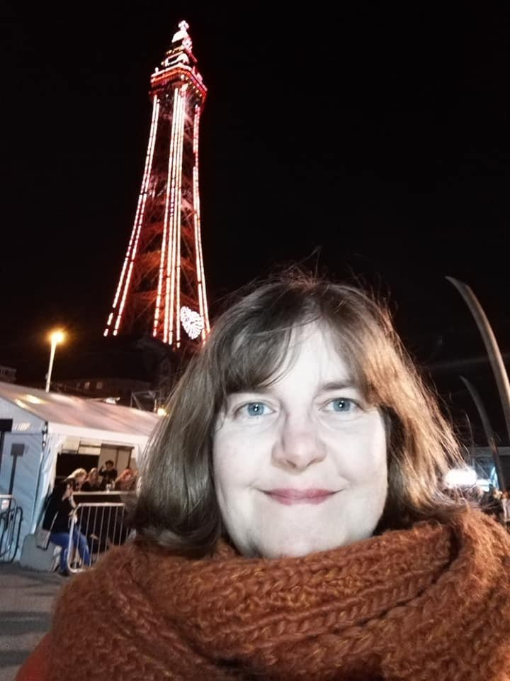 Susan Brownrigg at Blackpool Illuminations Switch-on
