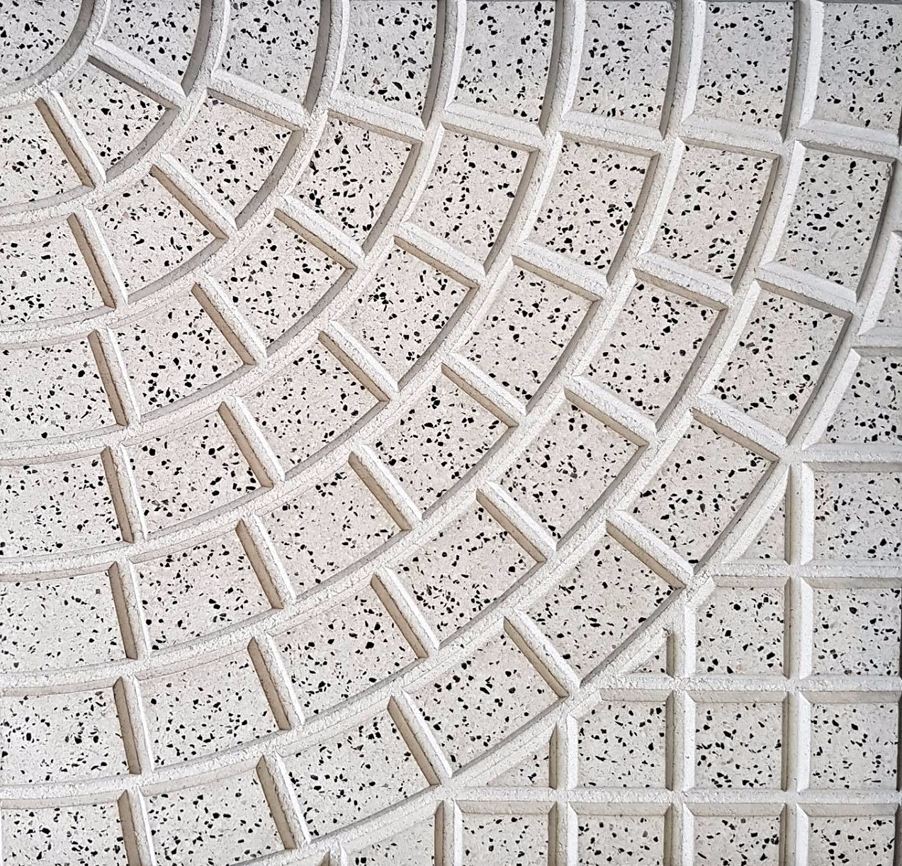 Adoquinado Curvo granítico blanco