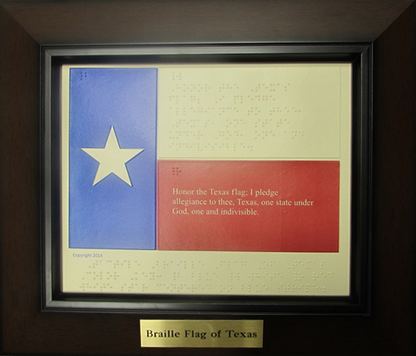 Braille Flag of Texas (color) |||| $5.00 (frame not included) Click to enlarge