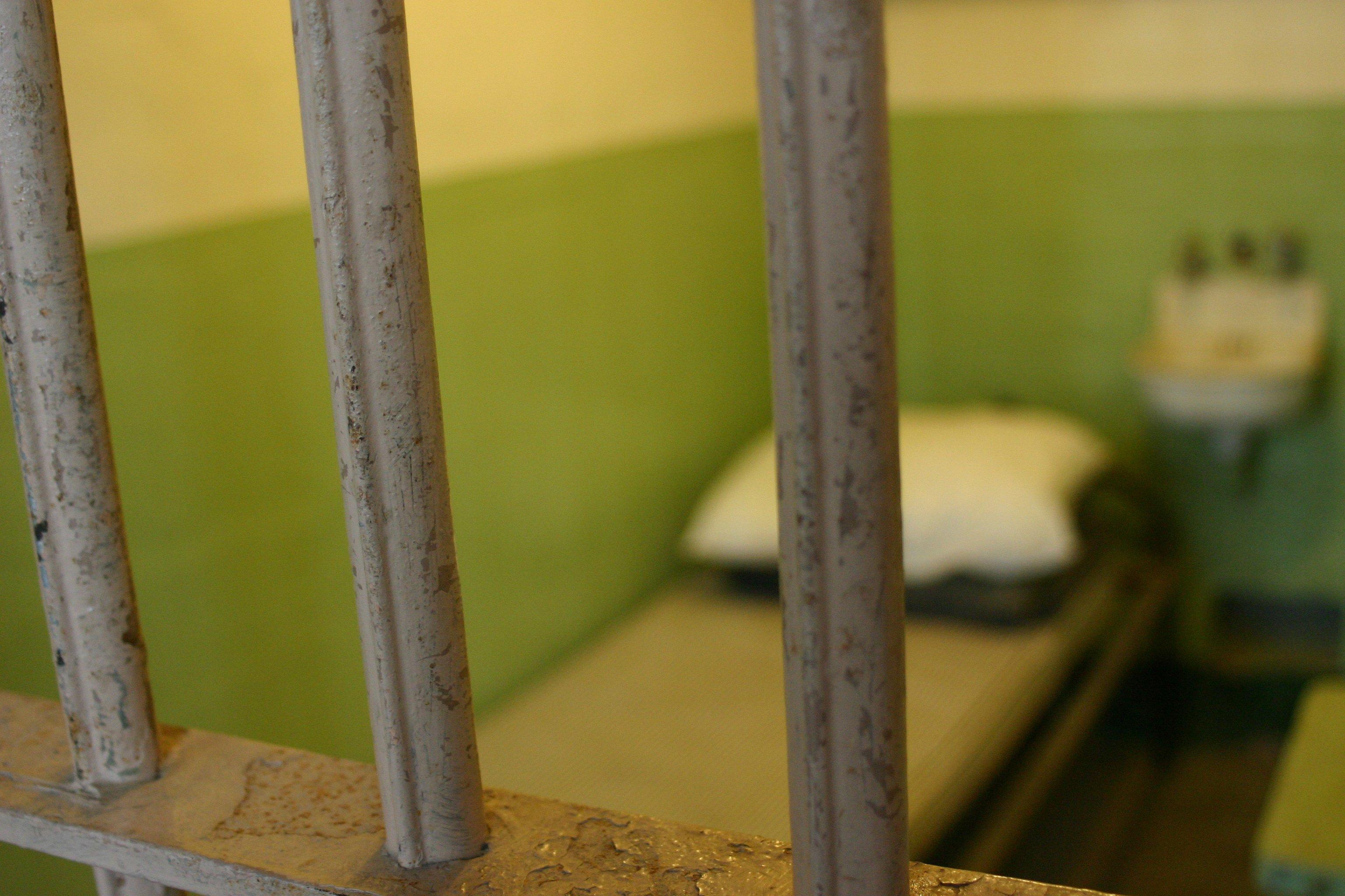 Inside jail cell||||