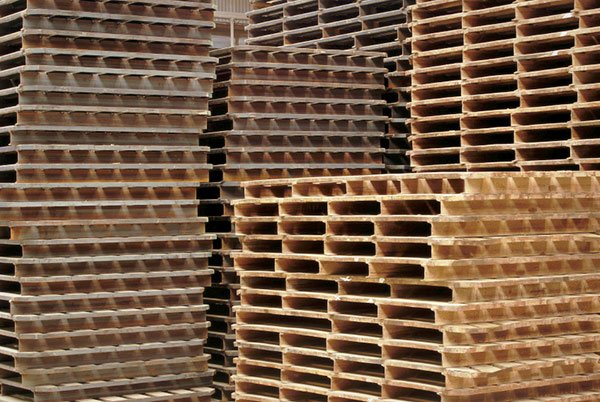 Piles of pallets