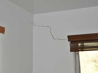 Interior Wall Crack