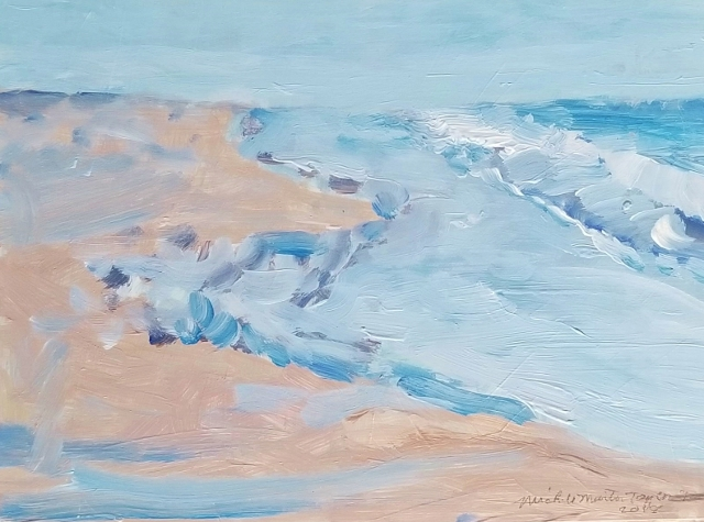 Taylor, Lazy Surf, 9x12 Oil