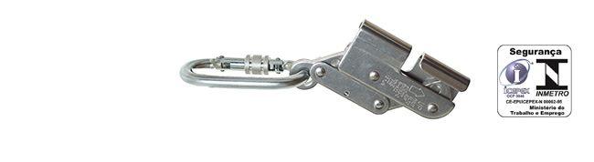 Trava-queda de aço inox p/ cabo de 8mm