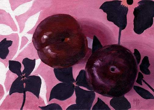 "Plum Pretty ~ 5"" x 7"" Oil on Canvas Panel  SOLD"