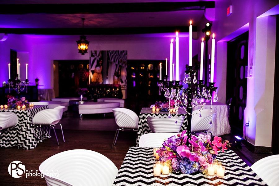 Purple Floral Decoration for a Sweet Sixteen party