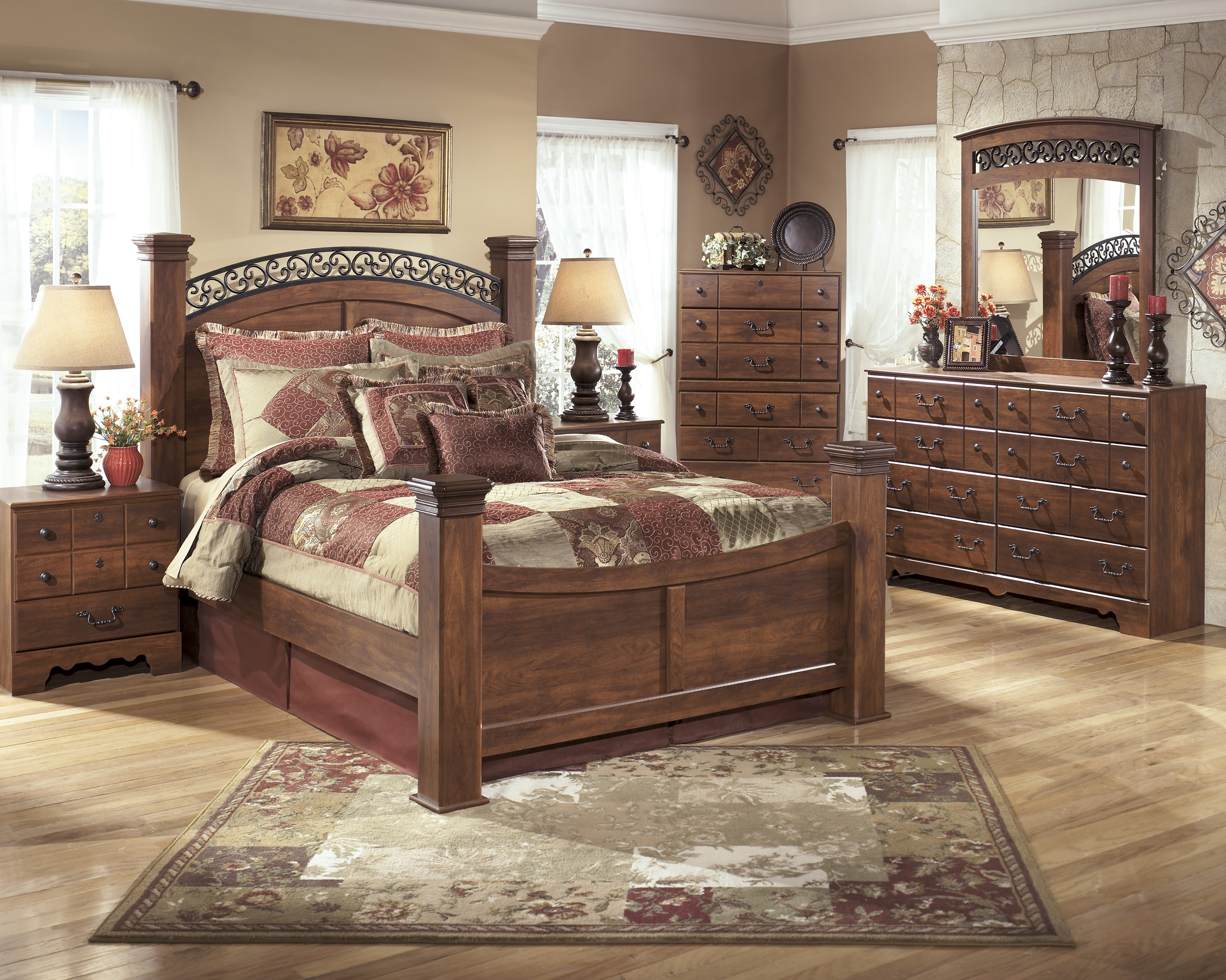 Timberline 5pc Bedroom Set  Chest Not Included