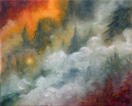 Wildfire 8x10 Oil on canvas SOLD