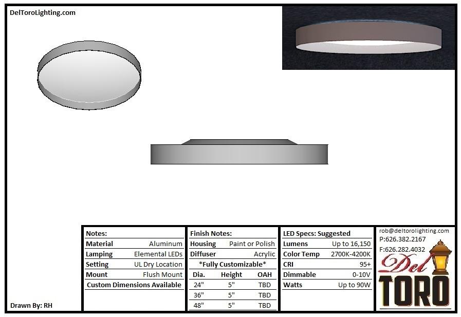 027C-UpDown Saucer Lens Flush Mount