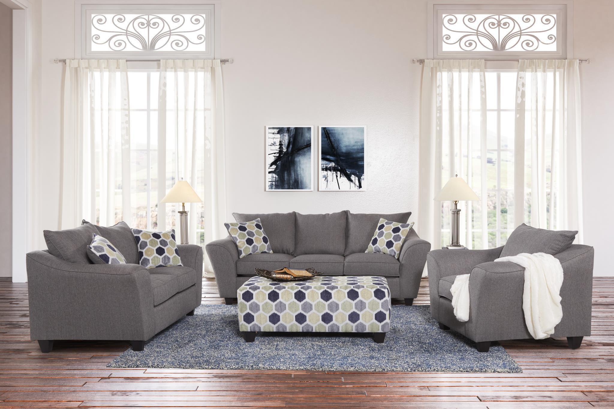 minhas 1075 grey sofa set