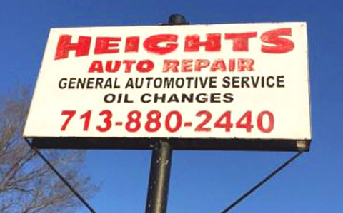 Auto Shop Outdoor Signage