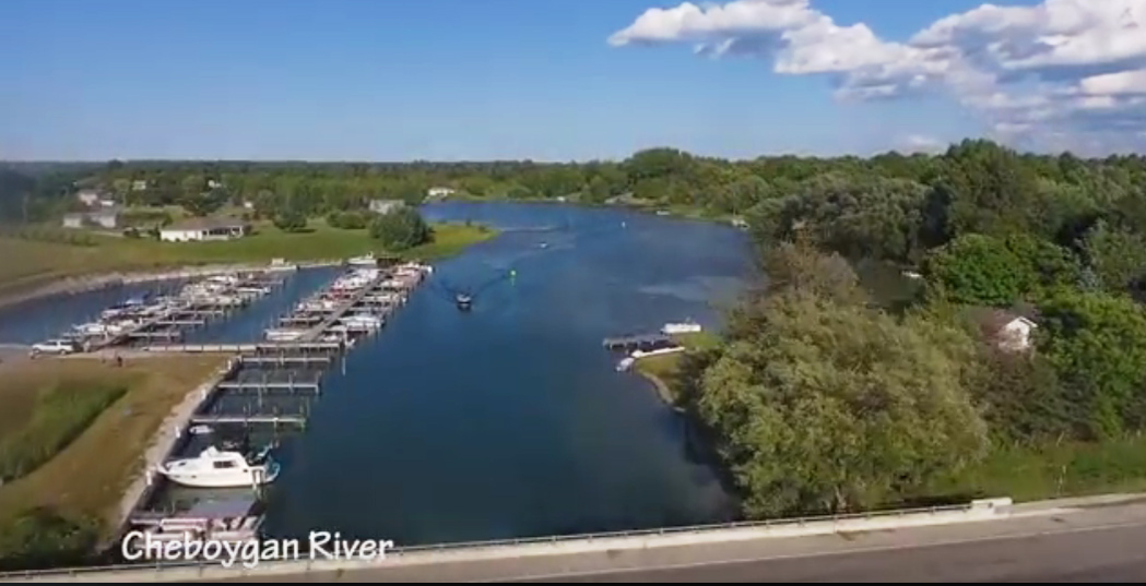 Cheboygan River Top View
