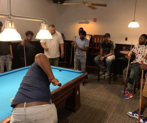 Men Playing Billiards 2