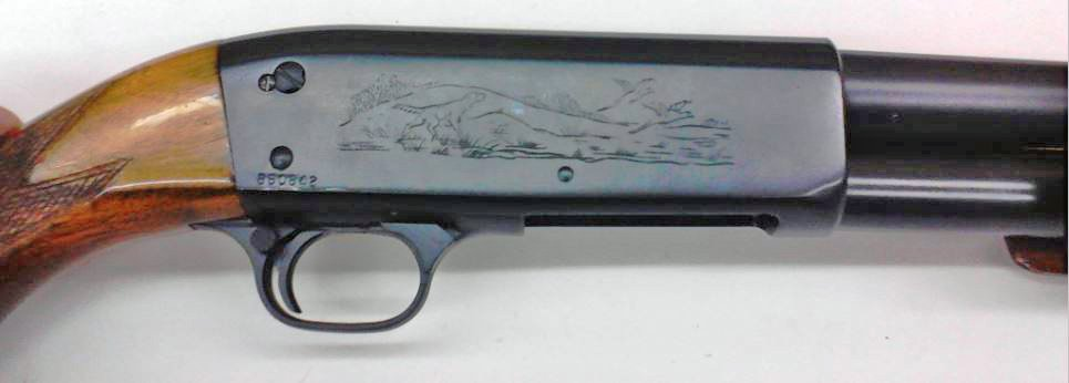 Ithaca model 37 receiver cerakoted with graphite black.