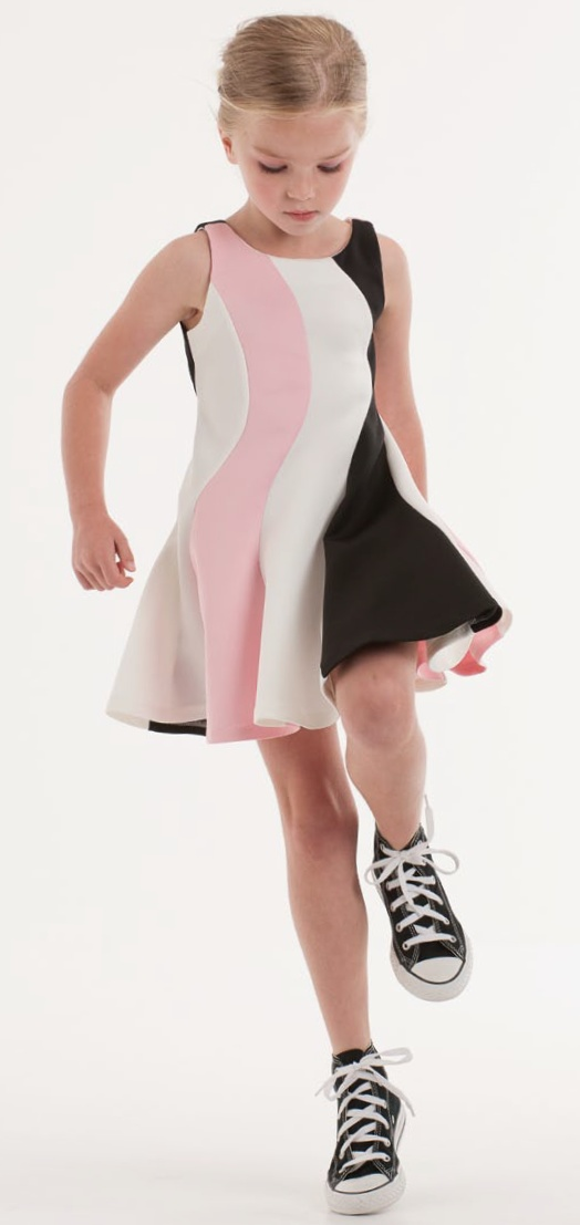 White Pink And Black Dress