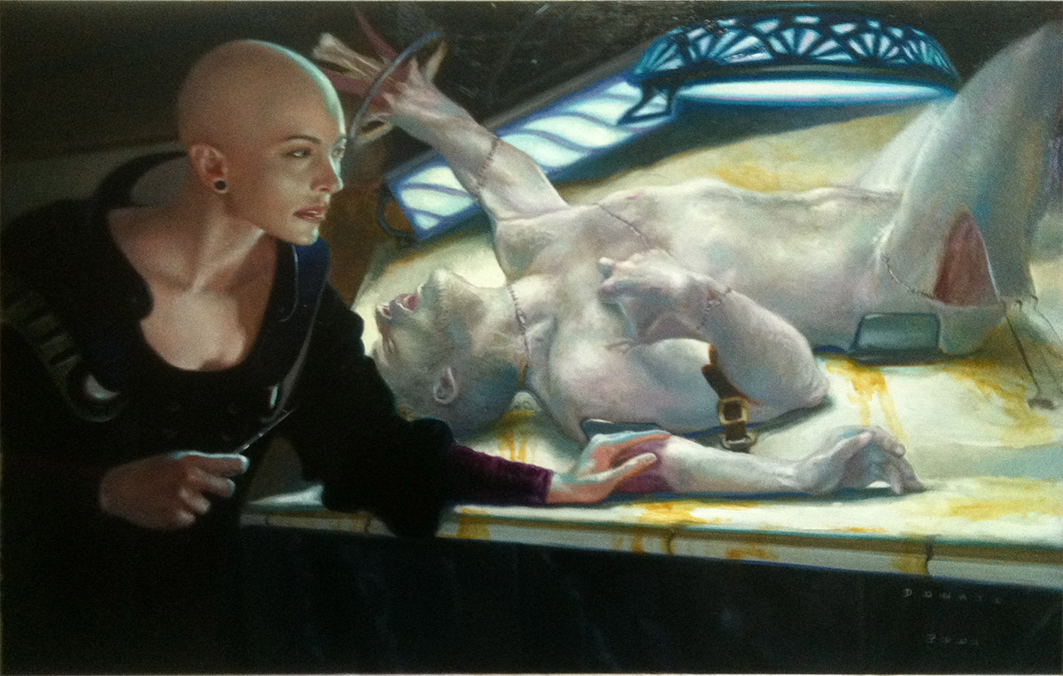 "Cabal Surgeon 9"" x 14""  Oil on Panel $8000"