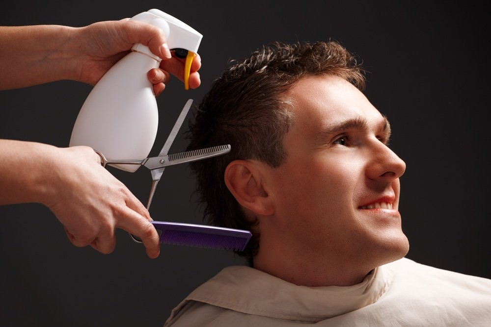 Barber and client