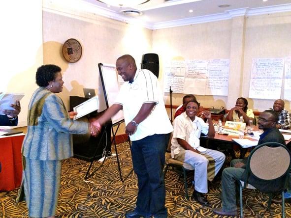 ACC Zambia presenting 2