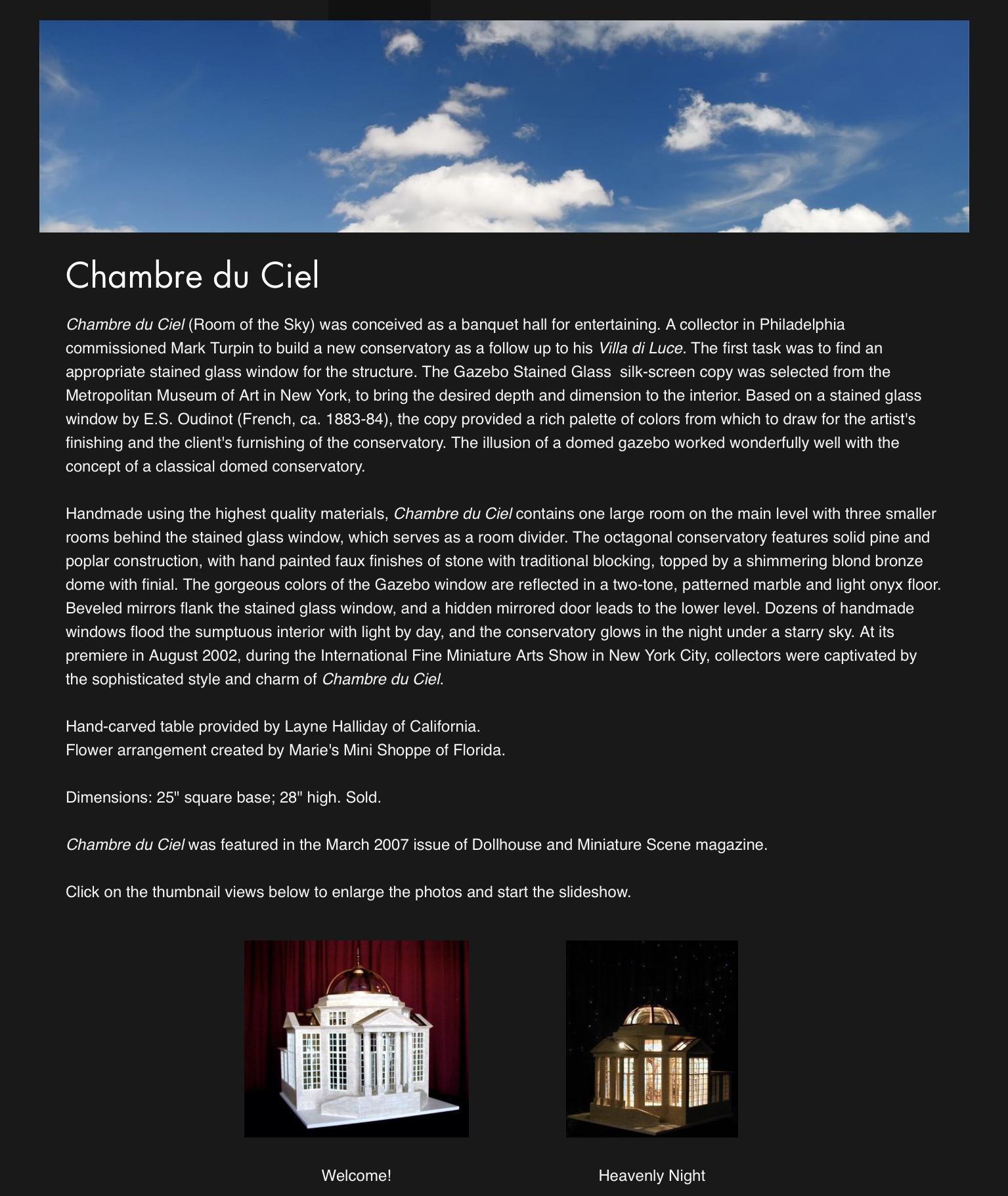 Chambre du Ciel — 2002