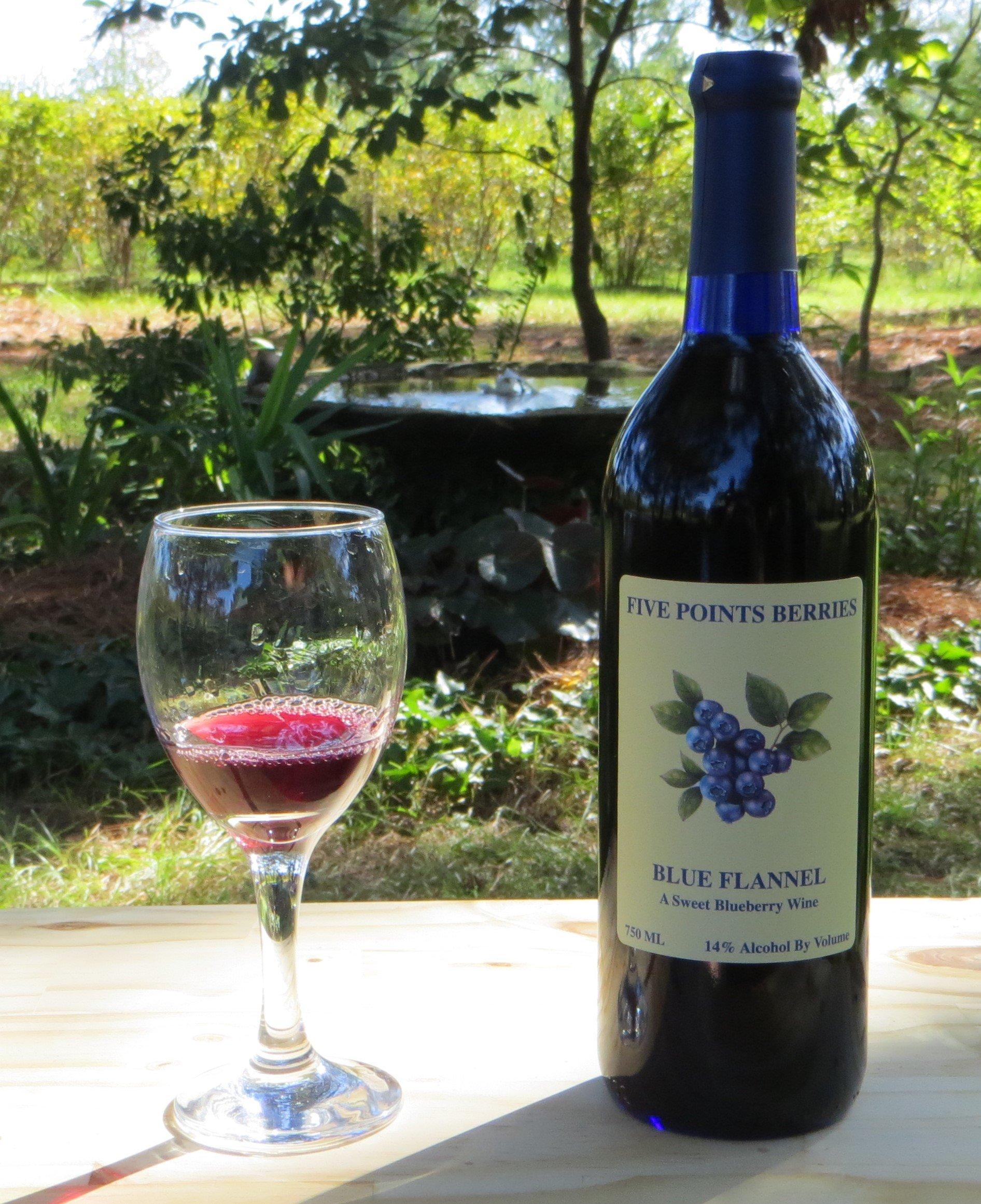 Blue Flannel Wine Bottle