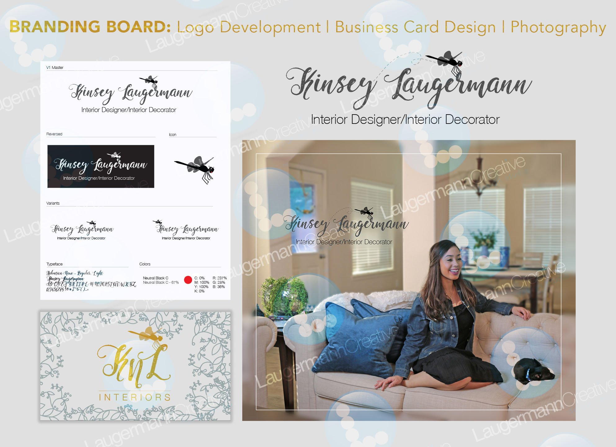 Branding Board: Logo, Photography, Business Card Design