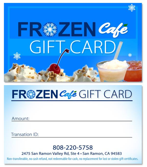 Gift Card | Frozen Café