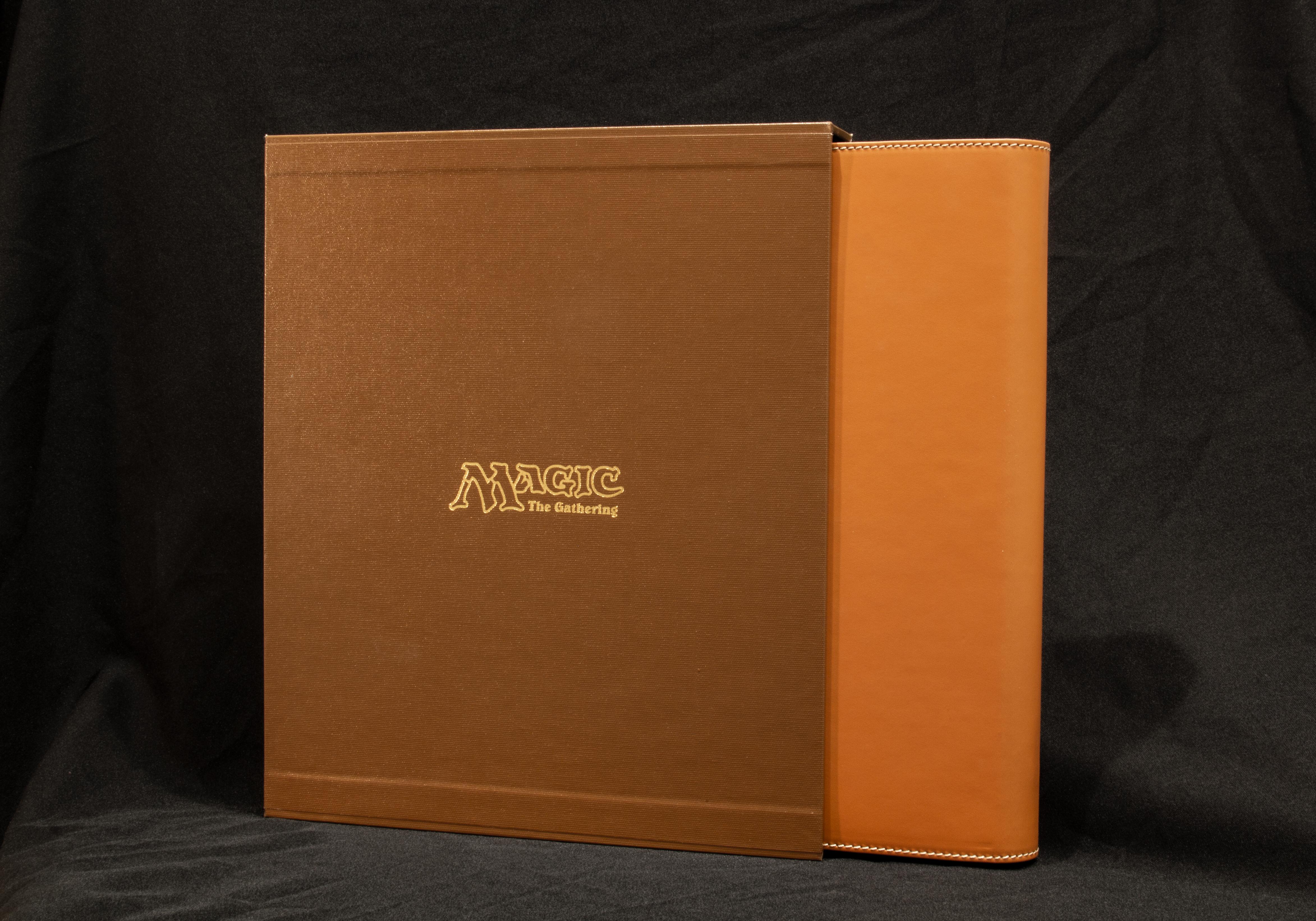 Slipcase and Tan option binder